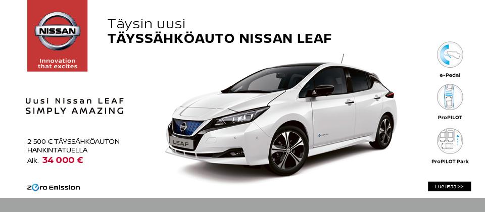 Täysin uusi Nissan Leaf