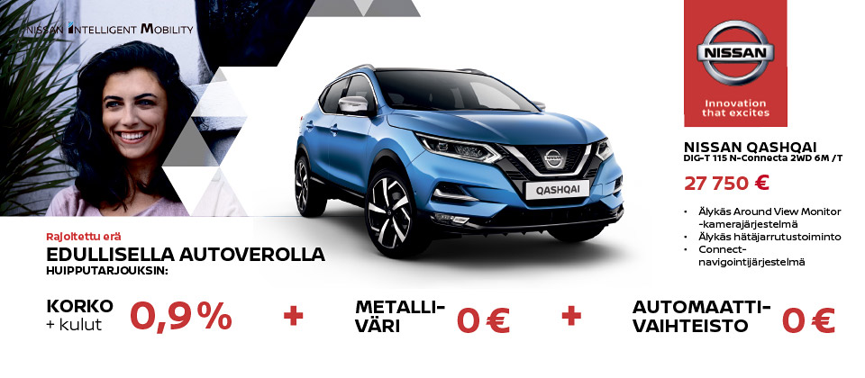 Uusi Nissan Qashqai N-Connect
