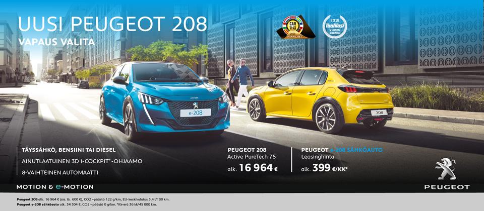 Uusi Peugeot 208  - vapaus valita