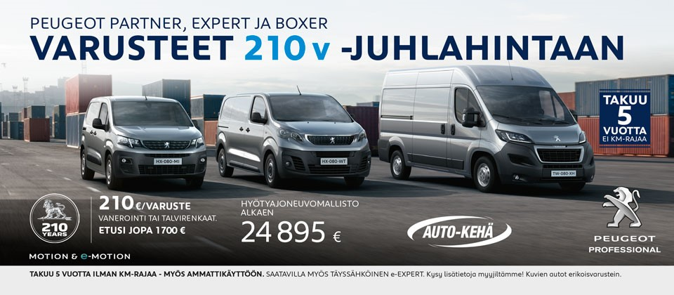 Peugeot HYA 210-juhlamallit