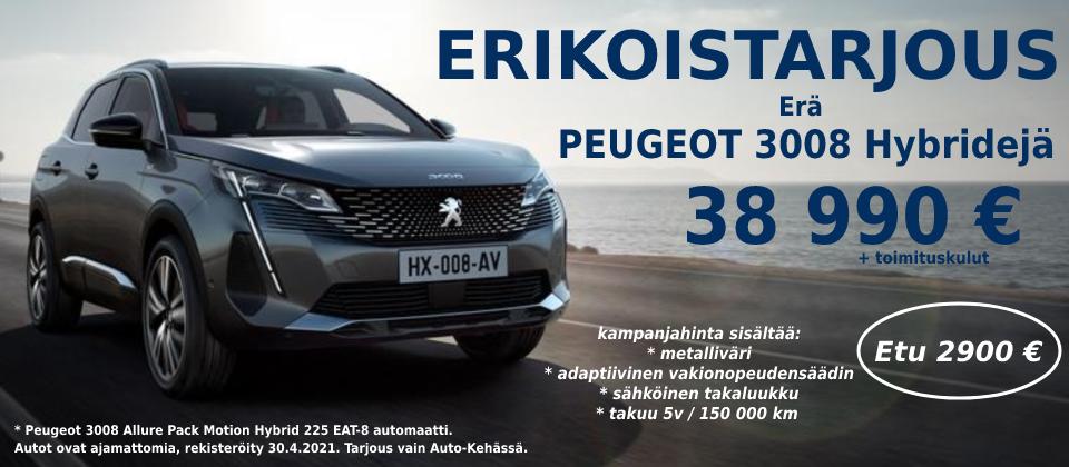 Peugeot 3008 hybrid 38 990
